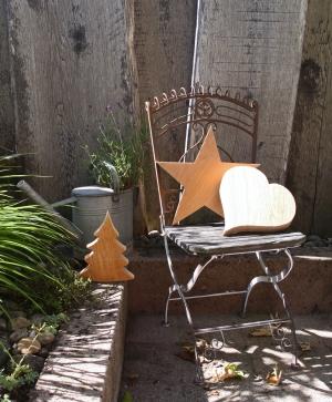 Herz, Stern und Tannenbaum für draussen