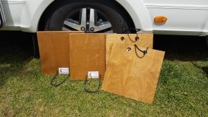Stützenbretter für Camper mit Hydraulikstützen