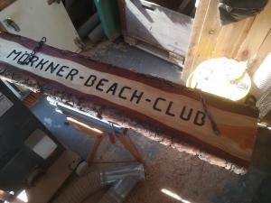 Barschild Mörkner Beach-Club
