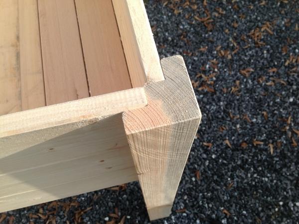 Modell Öko  Ökologisch sein auch auf dem Balkon! Das Modell Öko wird aus unbehandeltem Industrieholz hergestellt, welches bereits eine Verwendung als